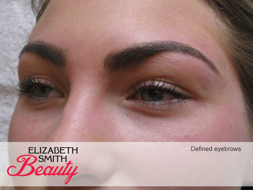 hd brows look norwich, defined eyebrows
