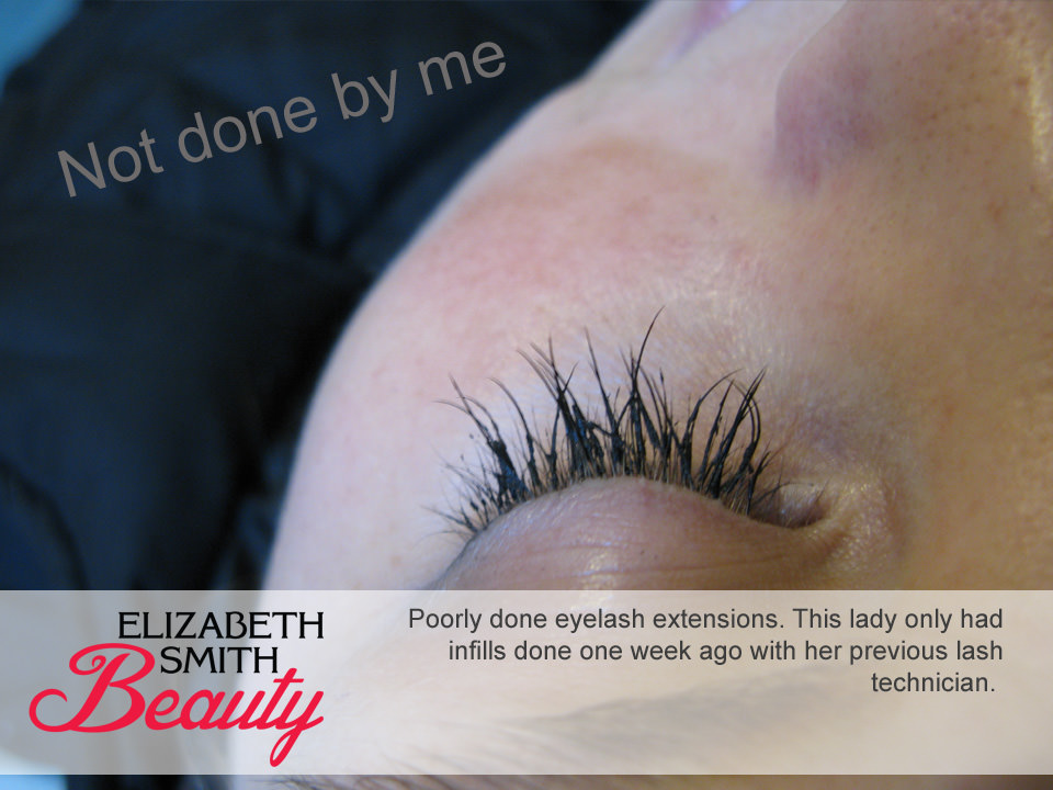 eyelash extensions keep falling out