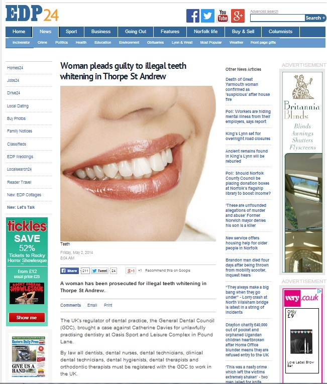 teeth whitening offers in Norwich