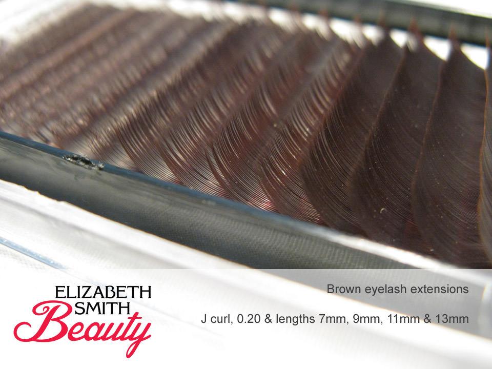 Eyelash Extensions In Brown 98