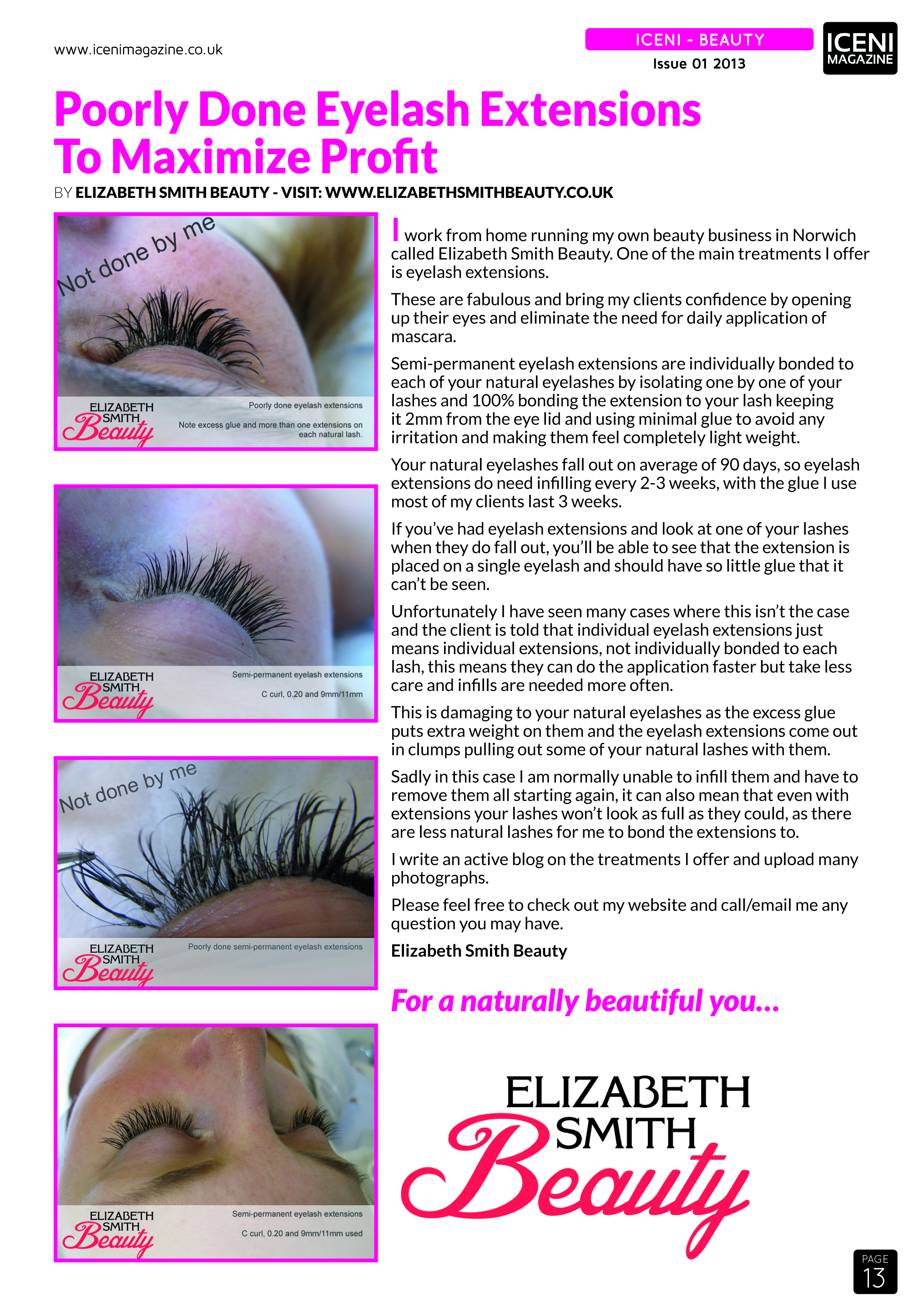 Launch Issue Eye Lashes Feature