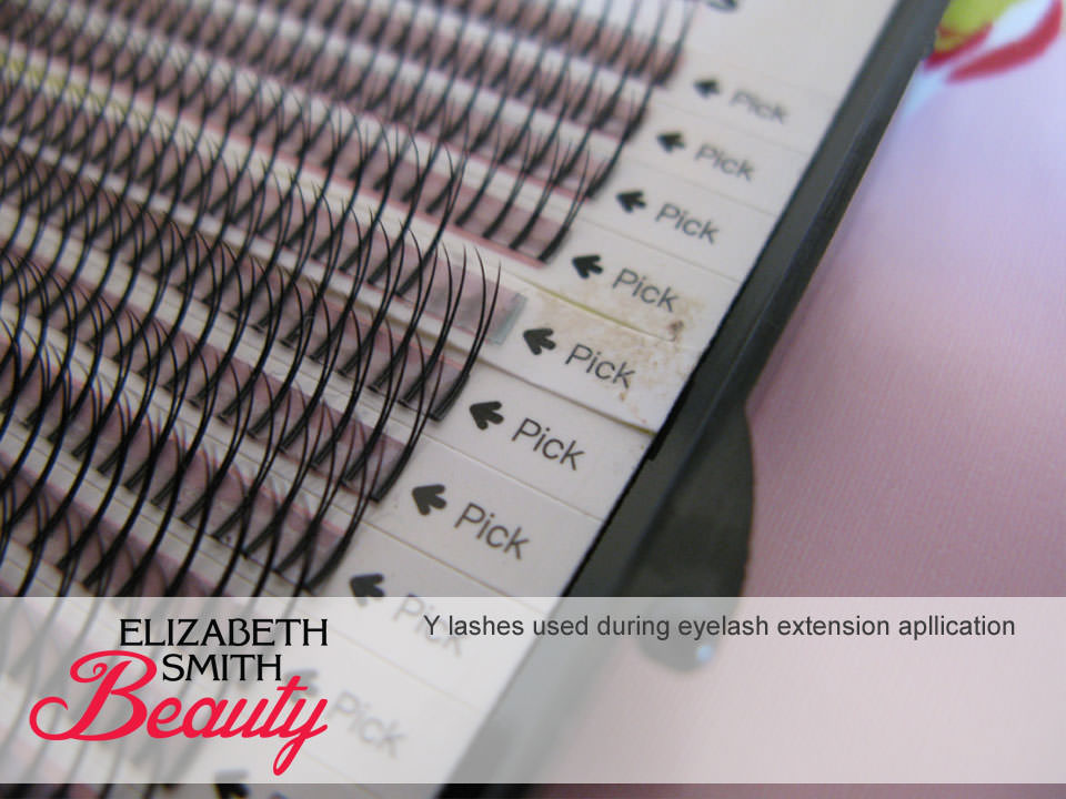 When to use Y lashes during eyelash extensions application
