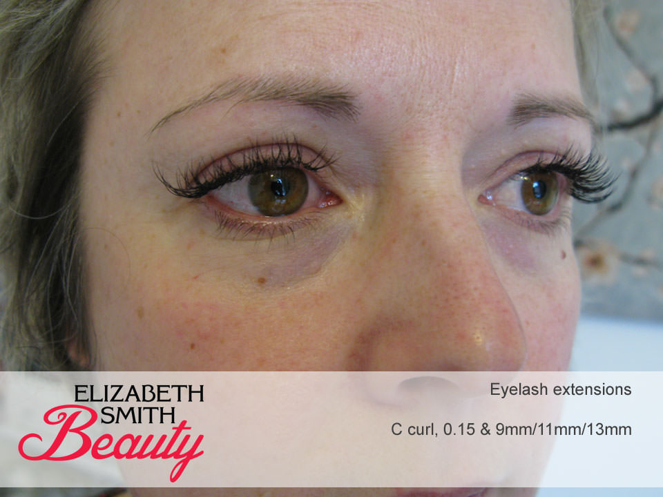 What do 0.15 thickness eyelash extensions look like?