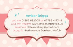 Little A Business card back