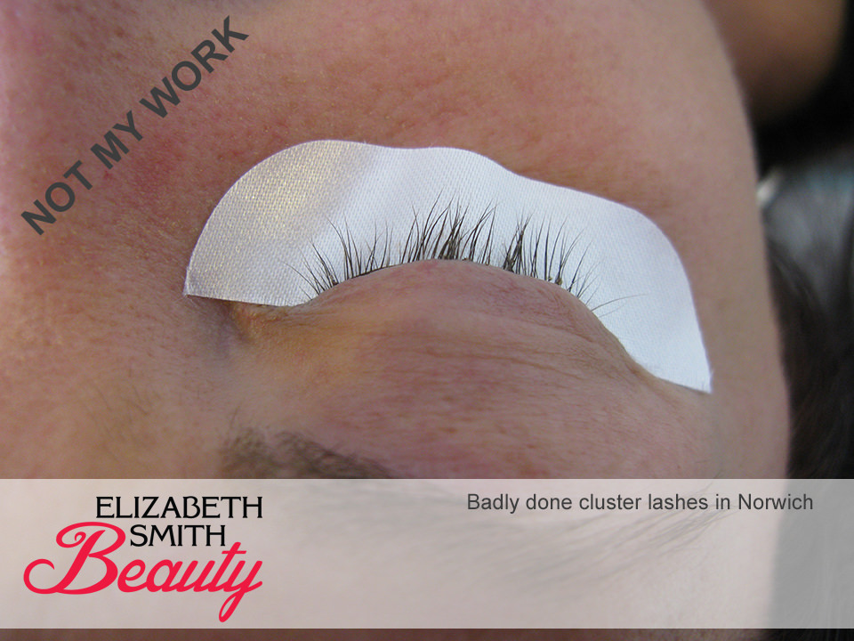 cluster lashes done in Norwich