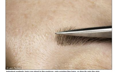 Eyebrow extensions now in Norwich
