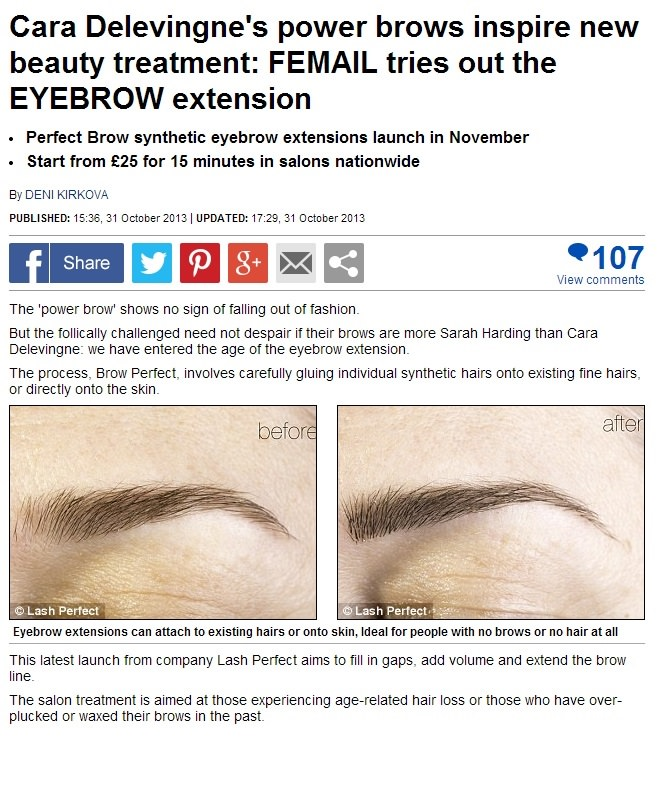 22bee750d87 Eyebrow extensions now in Norwich - My Beauty Salon Website