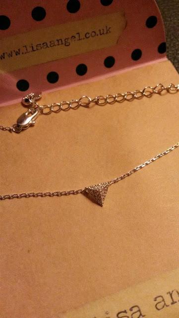 Silver Diamante Pyramid Necklace