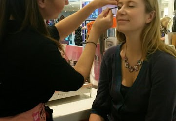 Wedding make-up at Benefit counter in House of Fraser