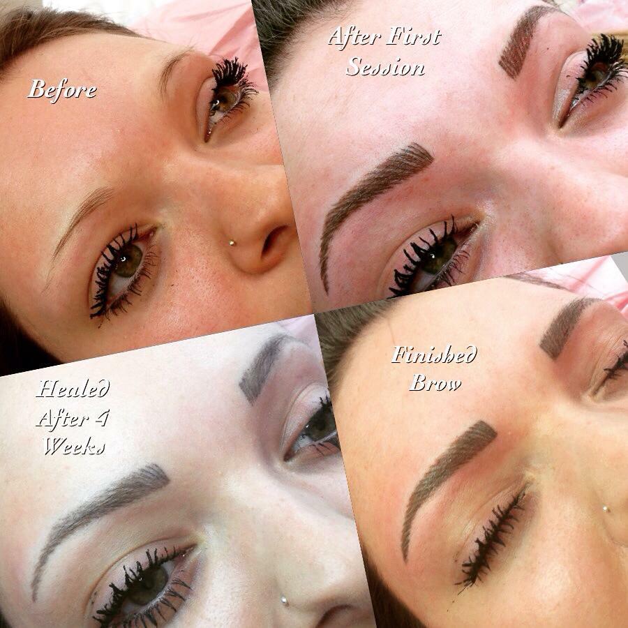 hair stroke tattoo brows Norwich