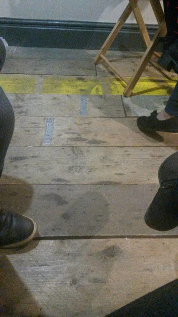scaffolding boards as a wooden floor