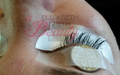 Eye twitching during eyelash extension application