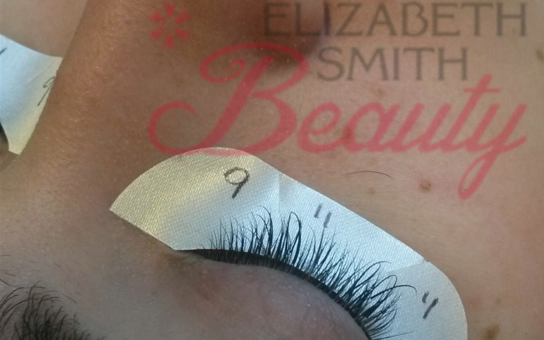 Mapping eyelash extensions