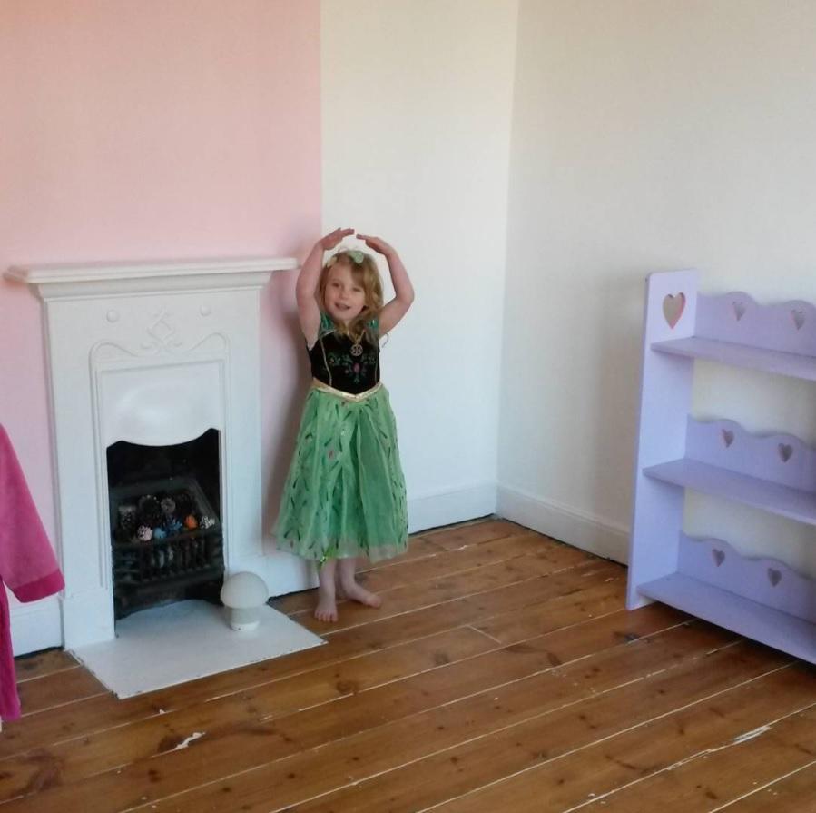wooden floor white walls