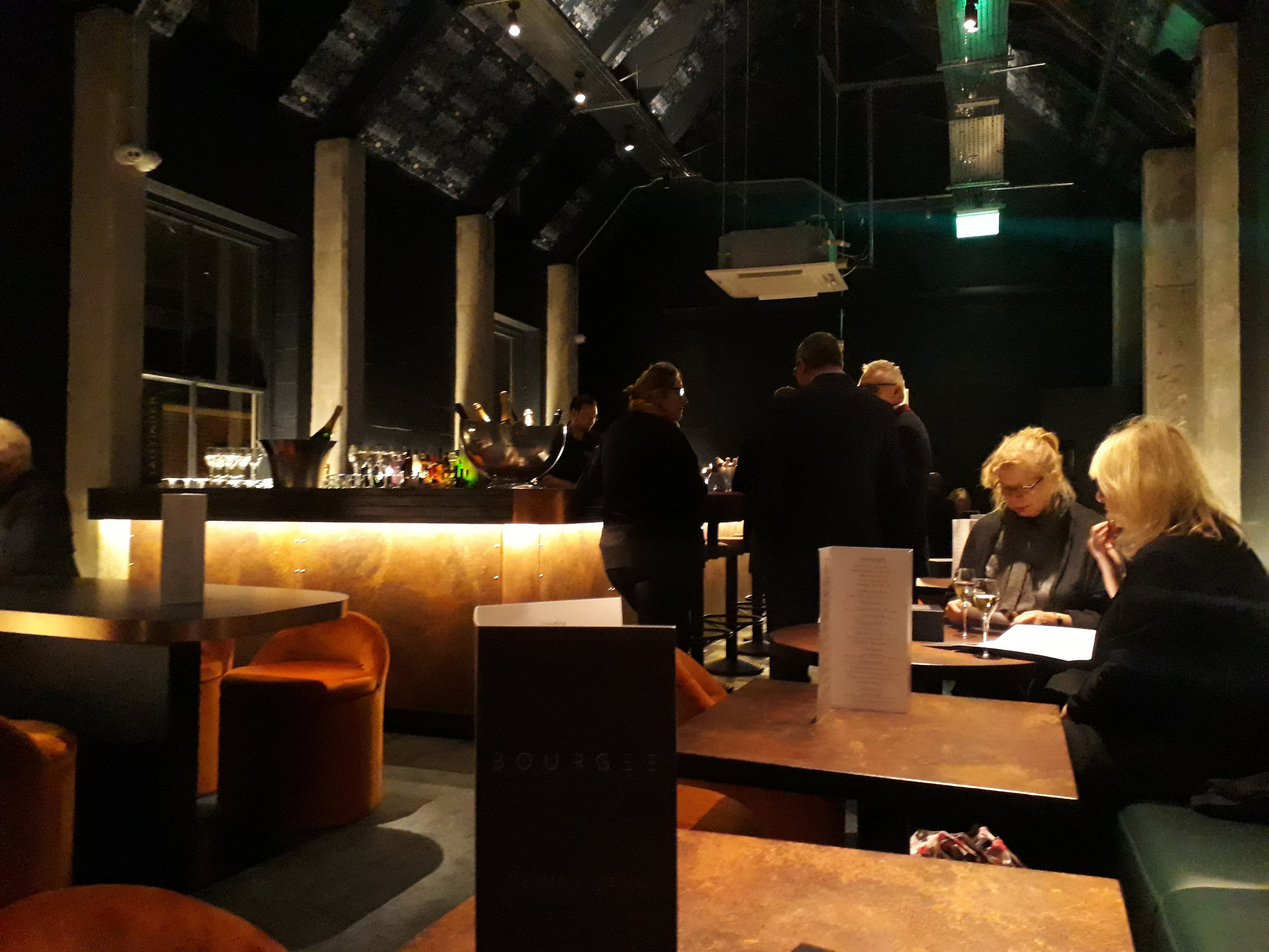 upstairs bar in Bourgee