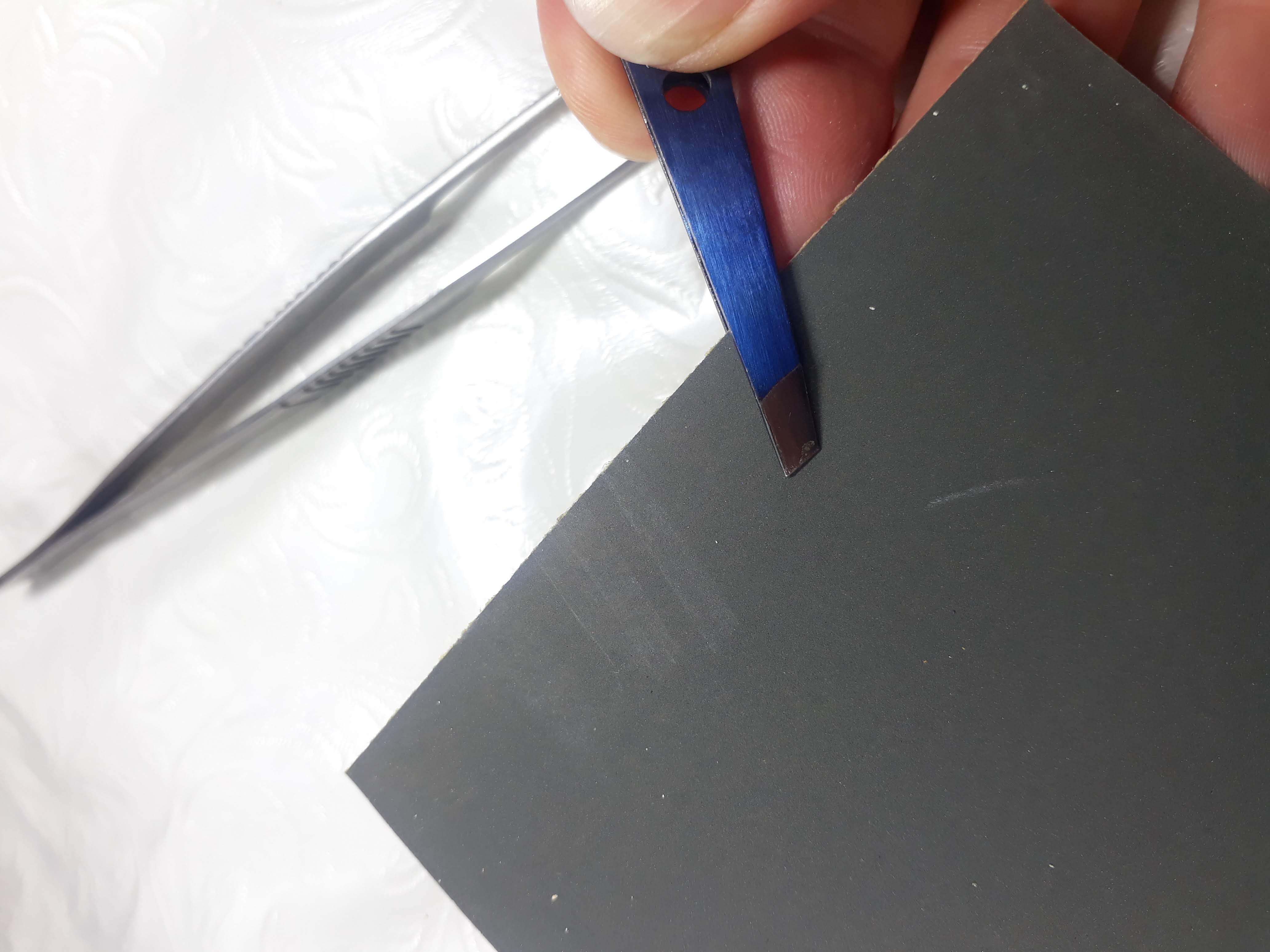 sharpening tweezers