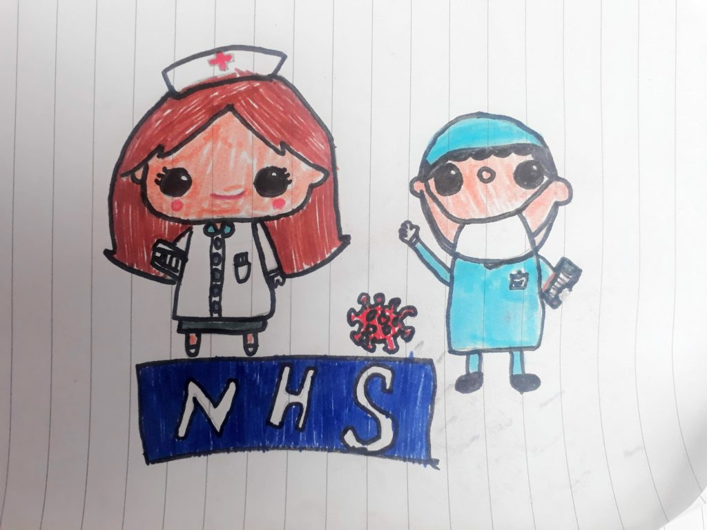 kids nhs drawing covid-19